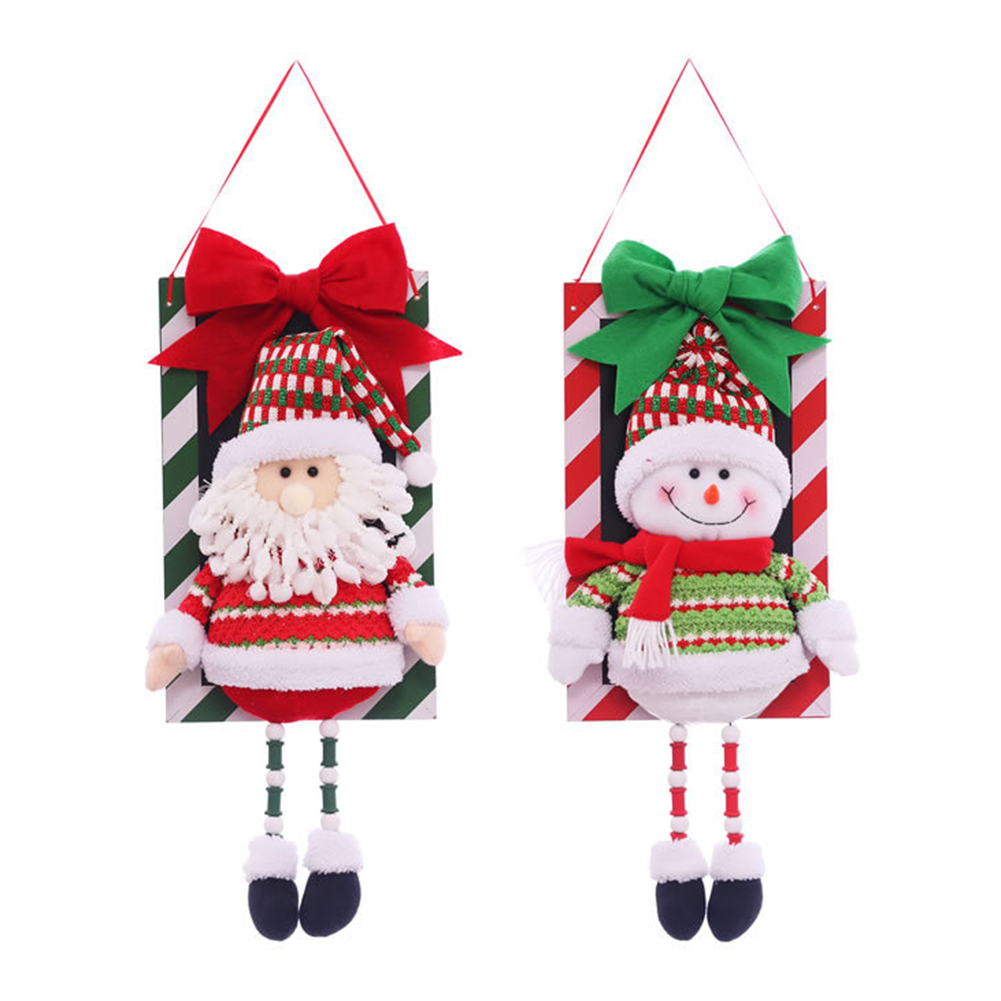 Santa Snowman Pendant Christmas Decorations Christmas Window Ornaments Outdoor Indoor Decorative Signs