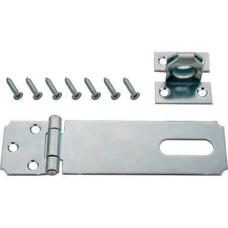 ProSource Fixed Staple Safety Hasp 3 1 2 In L Fixed Pin Steel Zinc Pla