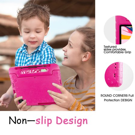 TORUBIA Shock Proof Case Fit iPad Pro 11 Inch 2020 Tablet, [Kids Friendly] Kiddie Series EVA Convertible Handle Light Weight Protective Cover Pen Holder - Magenta - image 7 of 7