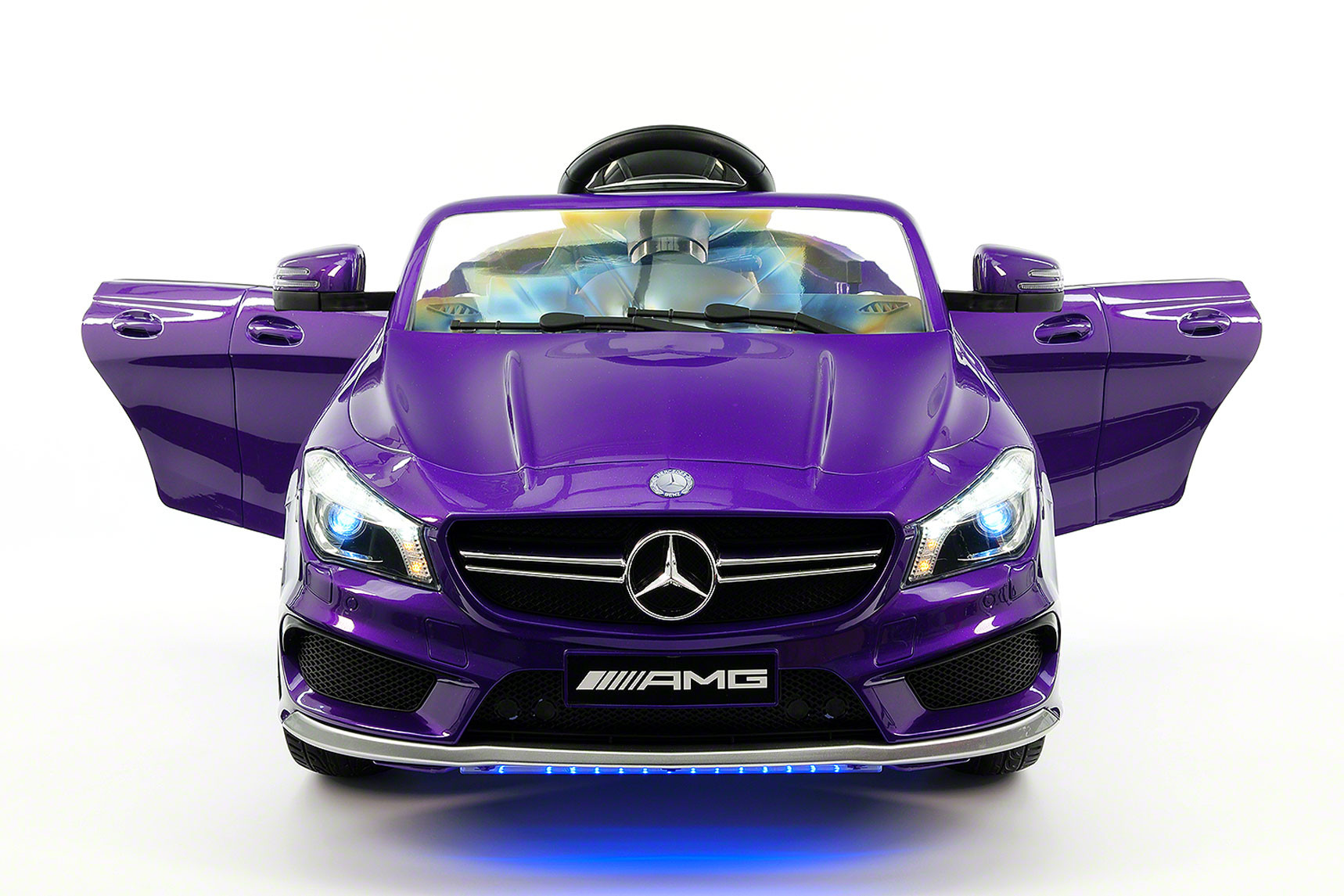 Mercedes CLA45 AMG 12V Kids Ride-On Car with Parental Remote   Purple Metallic by