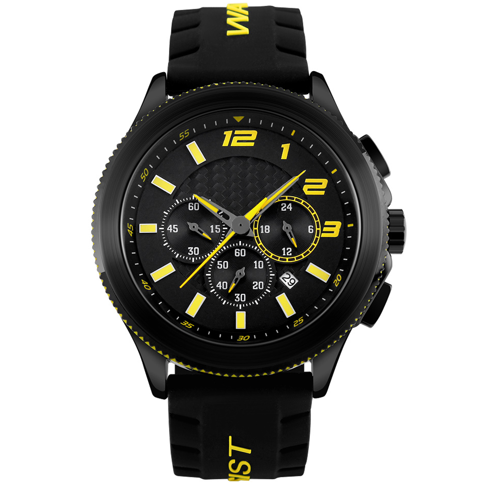 AGPtek Mens Sport Watch Quartz Analog Digital Multifunctional Casual Wrist Watches Under 30M Waterproof