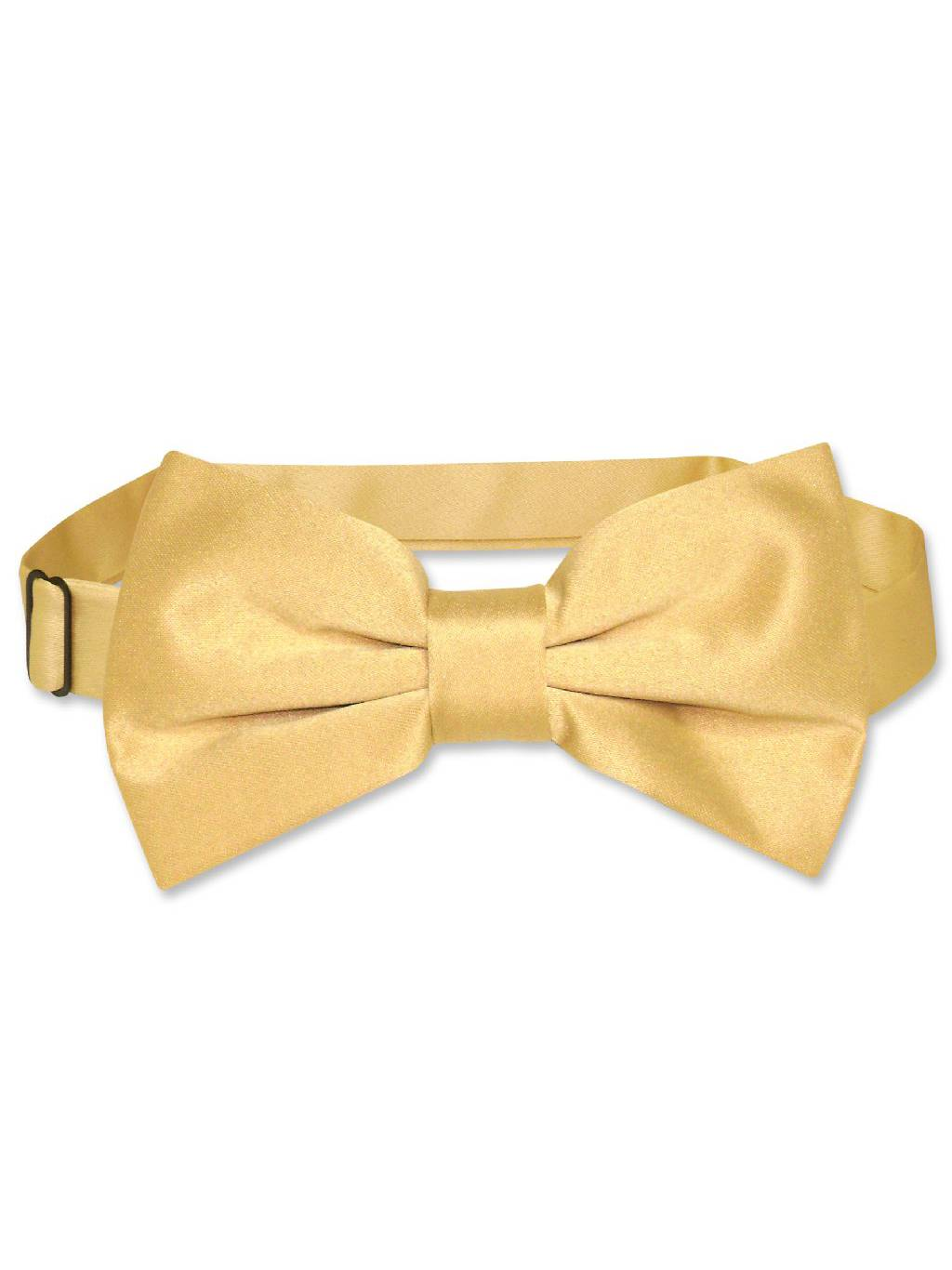 Vesuvio Napoli BOWTIE Solid GOLD Color Men's Bow Tie for Tuxedo or Suit