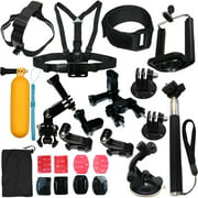 Camera Accessories Kit Bundle Attachments for Gopro Hero 7 6 5 4 3 2 1 3+, SJ4000 SJ5000 Hero Session 5 HD Action Video Cameras DVR by LotFancy, 23-in-1 Sports Accessories Kit
