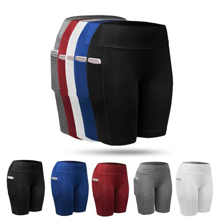 SUPERHOMUSE Women Compression Sports Shorts Athletic Gym Fitness Running Yoga Pants