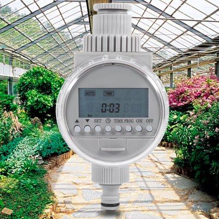 Yosoo 1Pc Solar Power Home Garden Auto Water Saving Irrigation Controller LCD Digital Watering Timer,Water Timer, Electronic Water Timer Auto Water Timer