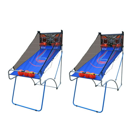 Lancaster Sports EZ-Fold 2 Player Traditional Arcade Basketball Game (2