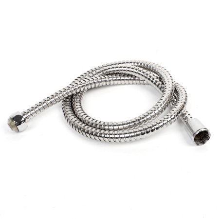 Unique Bargains 1.1M Length Stainless Steel Flexible Water Heater Shower Pipe Hose Silver Tone