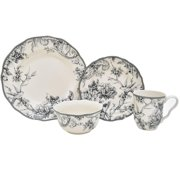 222 Fifth Adelaide Grey 16-Piece Dinnerware Set