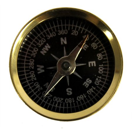 1 5  Pocket Compass   Camping And Hiking   Solid Brass