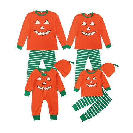 Halloween Family Matching Pajamas Set Womens Mens Kids Baby Sleepwear Nightwear