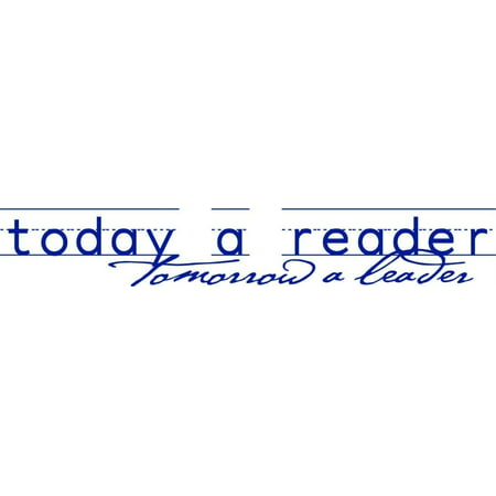 Custom Wall Decal Today A Reader Tomorrow A Leader Reading Book Quote - Kids Boys Girls Bedroom - Sticker Wall 5x26