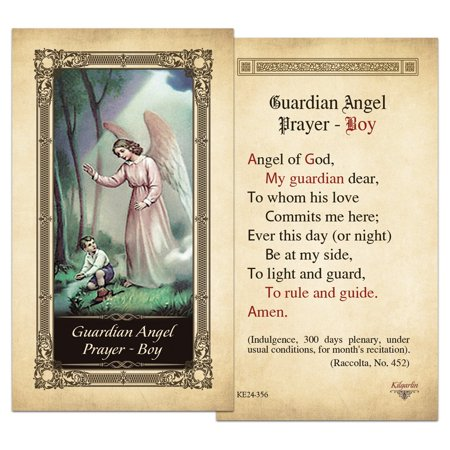 Guardian Angel Prayer - Boy Laminated Holy Card - Pack of 3