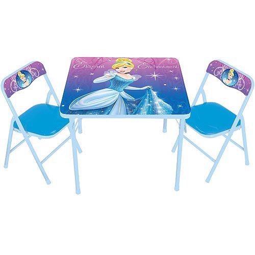 Disney Cinderella Activity Table and Chairs Set - Walmart.com