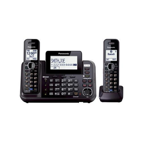 Panasonic KX-TG9542B Cordless Phone Answering System - Bluetooth Interface w/ Caller ID/Call Waiting DECT 6.0, 2-line