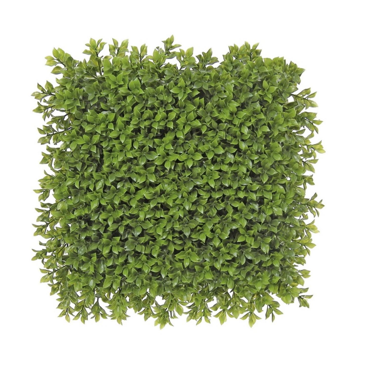 "12"" Decorative Square Two Tone Moss Green Artificial Boxwood Mat"