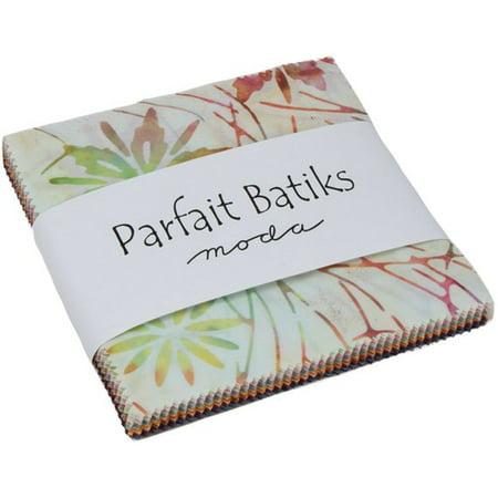 "Parfait Batiks Moda Charm Pack by Moda Classics; 42 - 5"" Precut Fabric Quilt Squares"