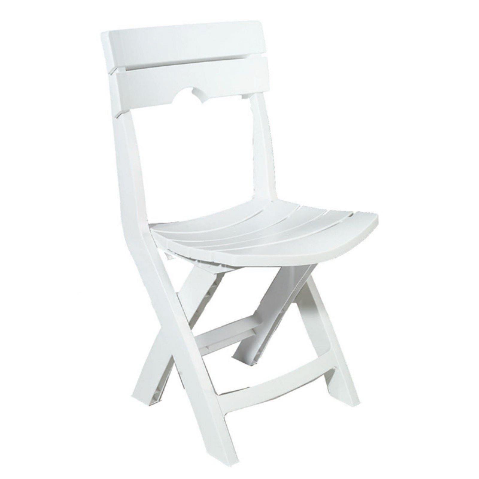 Adams Manufacturing Quik-Fold Chair, White