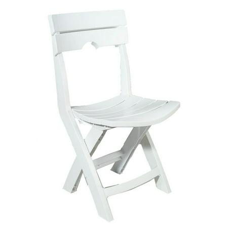 Adams Manufacturing Resin Quik Fold Chair White Walmart