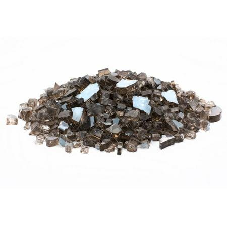 "Dragon Glass 25 lb Reflective Tempered Fire Glass, 1/4"", Bronze"