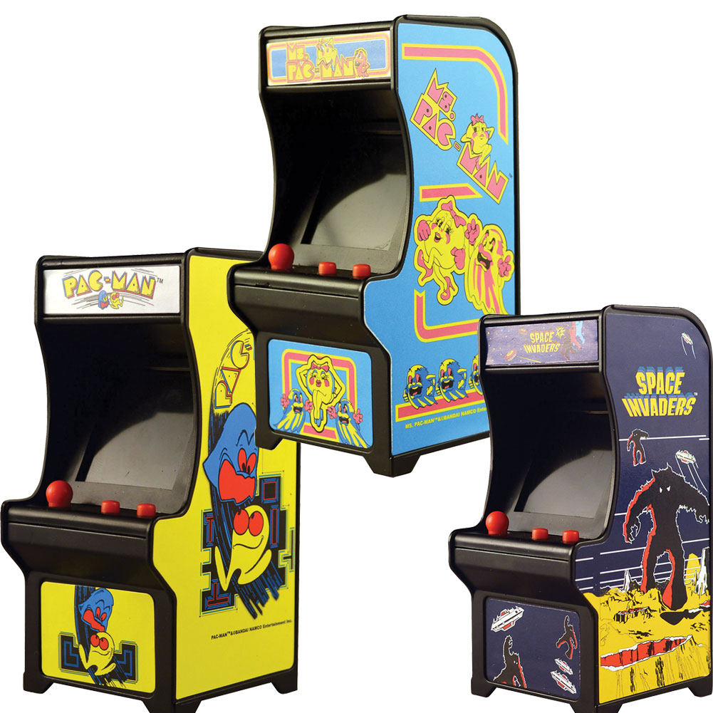 (Set) Classic Handheld Arcade Games Pac-man, Ms Pac-man And Space Invaders by JOHNSON SMITH
