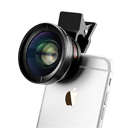 timeless design 516c0 96e72 TECHO Universal Professional HD Camera Lens Kit for iPhone 6s / 6s Plus / 6  / 5s, Mobile Phone (0.45x Super Wide Angle Lens, 12.5x Super Macro Lens)