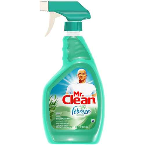 Mr. Clean With Febreze Fresh Scent Meadows And Rain Spray Cleaner, 32 fl oz