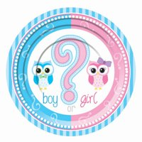 "Gender Reveal 7"" Dessert Plates, 24ct"
