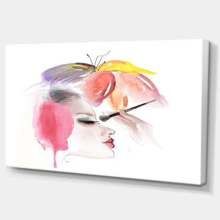 Eye Lash Face Woman Cosmetic - Portrait Canvas Art Print - image 1 de 4