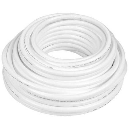 Firm Flexible Crack-Resistant Polyurethane Plastic White Tubing for Food and Beverage Applications - Inner Diameter 1/4