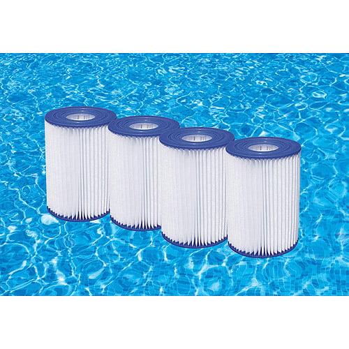 a or c pool filter cartridges, 4pk - walmart.com
