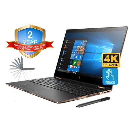 HP Spectre x360 15t 4K UHD Convertible 2-in-1 Laptop (Intel 8th Gen i7-8705G, 16GB RAM, 256GB PCIe SSD, 15.6