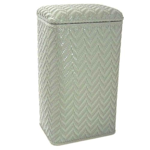 Wicker Pattern Hamper in Sage Green