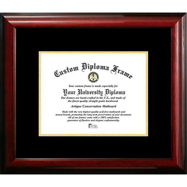 8 5x11 Classic Mahogany Certificate Frame With Black Gold Mats Walmart Com Walmart Com