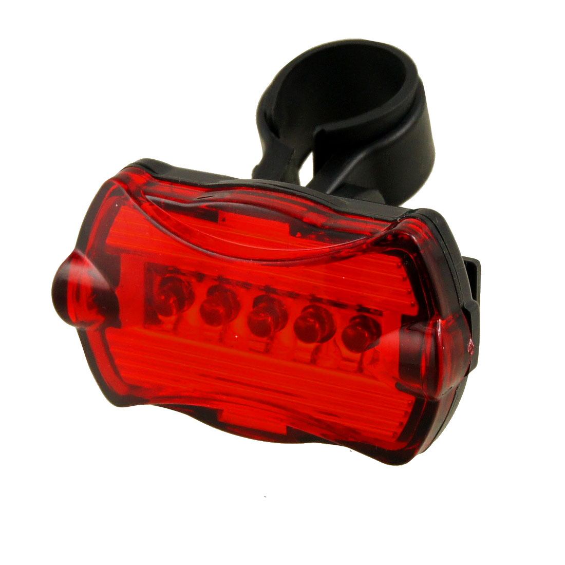 Battery Powered 5 LED Bike Rear Light Tail Lamp w Stand
