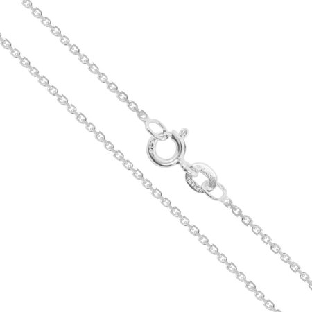 Sterling Silver Light Cable Chain 0.9mm Solid 925 Rolo Link New Necklace 20