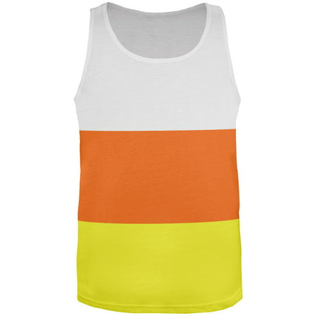 Halloween Candy Corn Costume All Over Adult Tank Top](Adult Candy Corn Costume)