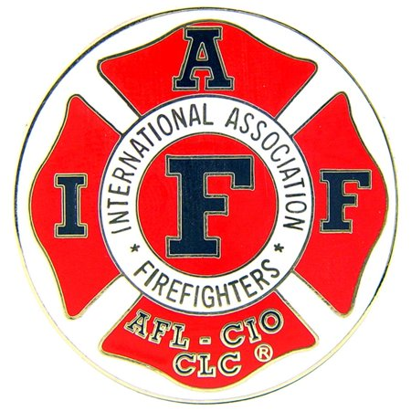 International Association Fire Fighters Logo Shield Pin