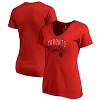 Toronto Raptors Fanatics Branded Women's Graceful V-Neck Plus Size T-Shirt - Red