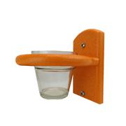 JCs Wildlife Orange Window Jelly Birdfeeder Oriole Feeder w Removable Jelly Cup