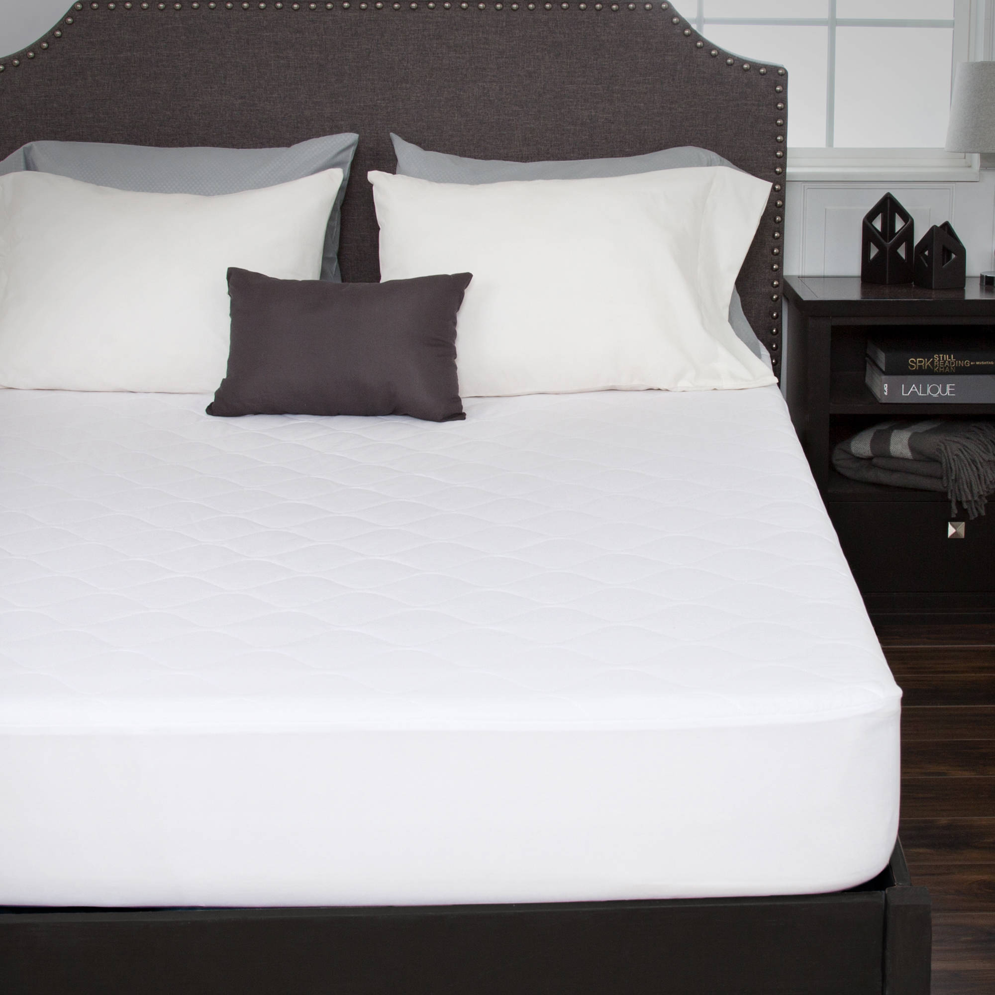 Somerset Home Down Alternative Cotton Mattress Pad with Fitted Skirt