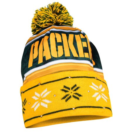 Green Bay Packers Official NFL Team Beanie Stocking Stretch Knit Sock Hat  by Forever Collectibles 680192 - Walmart.com 03a10587726
