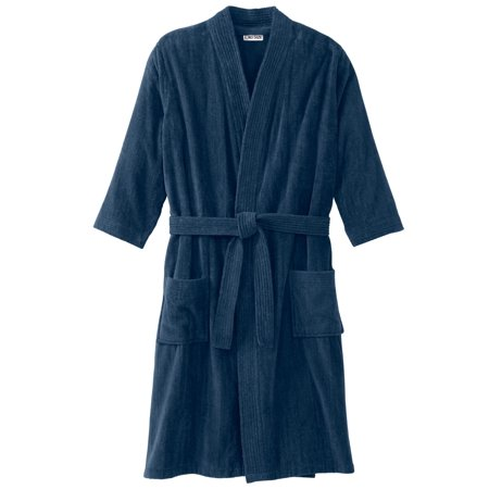 Kingsize Men's Big & Tall Terry Velour Kimono Robe