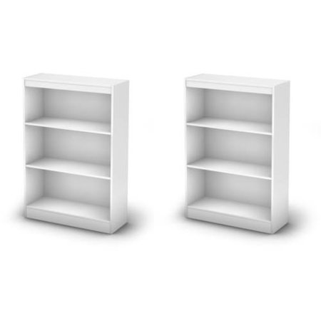 South Shore Smart Basics 3-Shelf Bookcase Value Bundle, Multiple Finishes (Mix and Match)