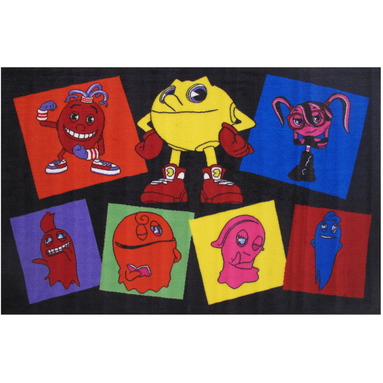 Fun Rugs Pac-Man Pac Party Kids Rug