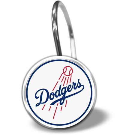 MLB Los Angeles Dodgers 12 Piece Shower Curtain Ring Set