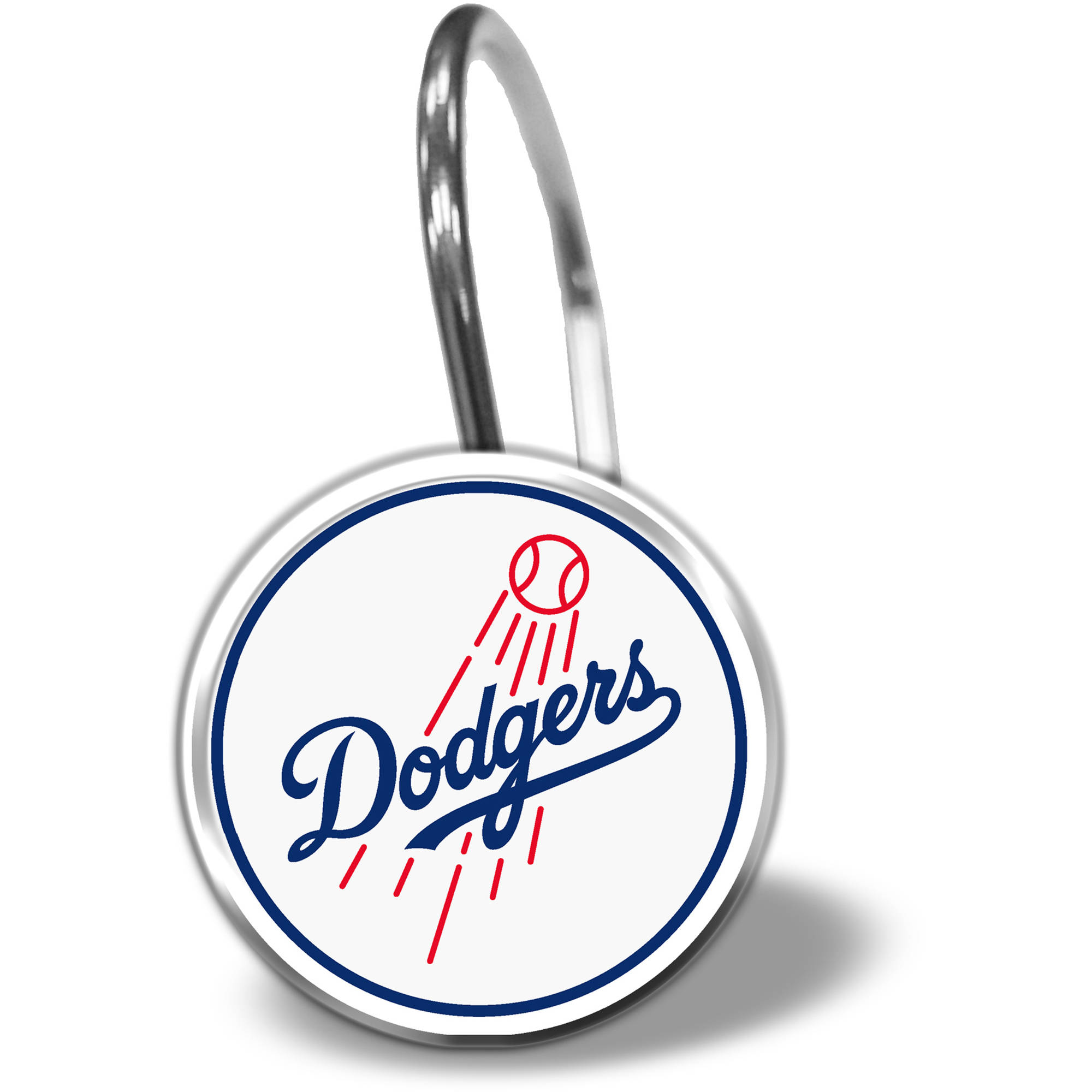 MLB Los Angeles Dodgers 12-Piece Shower Curtain Ring Set