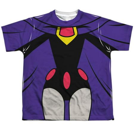 Teen Titans Go Men's  Raven Uniform Sublimation T-shirt White for $<!---->