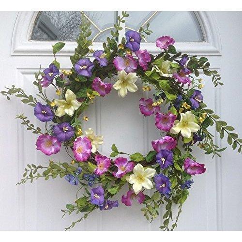 August Grove Cool Summer Morning Silk Floral Wreath