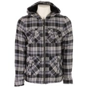 Sessions Adlan Jacket Black Plaid Mens