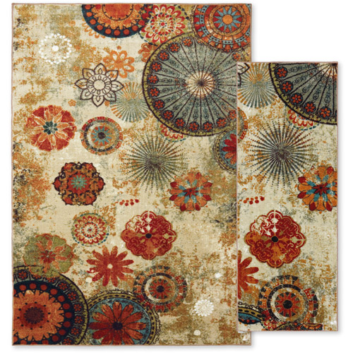 Mohawk Home Caravan Medallion Printed Nylon Area Rug
